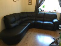 Leather corner sofa with recliner excellent condition £1500 ono