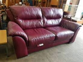 Large two seater leather sofa