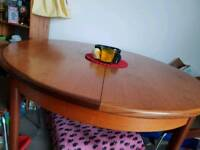 Solid Wood Round Extending Table