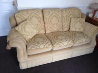 Gold 3 piece sofa suite