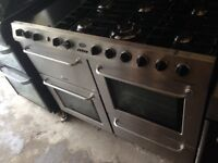 Belling Range Silver gas cooker 100cm ...free delivery