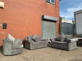 Grey Sofa set delivery 🚚 sofa suite couch furniture