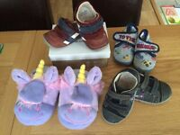 Baby Boy little shoes and slippers size 4&5