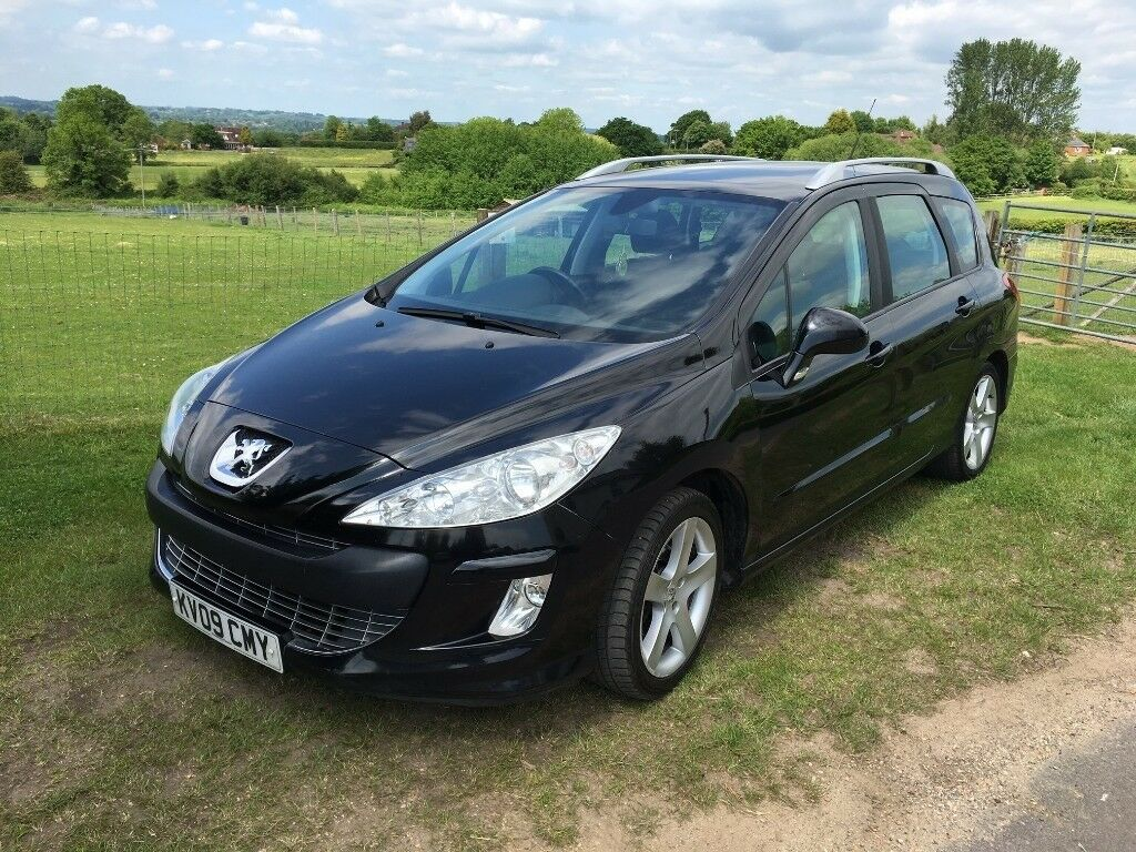 peugeot 308 sw estate 2009 1 6 hdi fap sport 5dr diesel black 1560cc manual in southampton. Black Bedroom Furniture Sets. Home Design Ideas