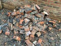 1930s reclaimed bricks or hard core. Free to collector
