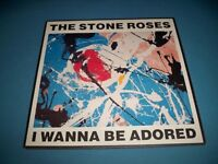 """The Stone Roses: I Wanna Be Adored & Where Angels Play 7"""" Vinyl Record"""