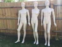 3 Shop retail display large full size clothes mannequins / clothes dummies