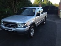 Ford ranger 2004 54 reg double can 4x4
