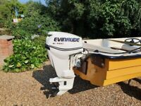14ft Fishing Boat, Nice 30hp Outboard & Trailer