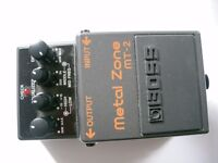 BOSS by Roland MT-2 Metal Zone stompbox/pedal/effects unit for electric guitar - Taiwanese