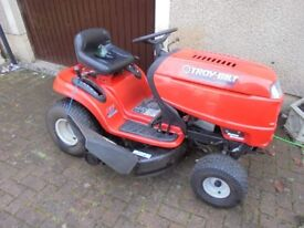 """Red ride on lawn mower 42"""" cut"""