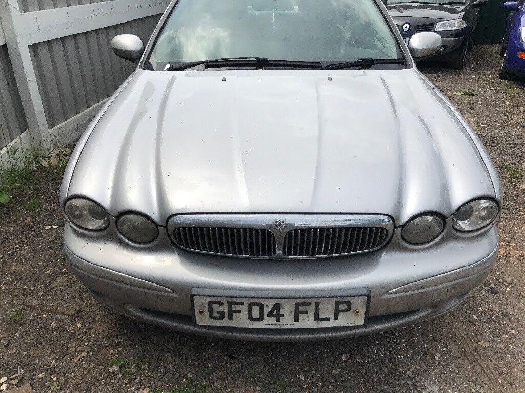 Jaguar x type silver front bumper