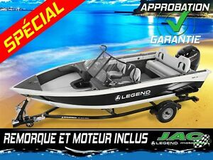 2016 legend boats Bateau 18 Xcalibur Mercury 50 ELPT Chaloupe Pê