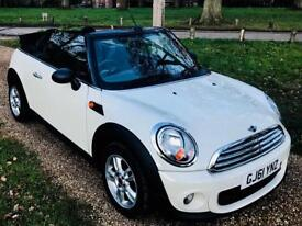 Stunning low mileage 33k 2011 Mini One 1.6 Convertible Full Serv His Excellent Spec new mot