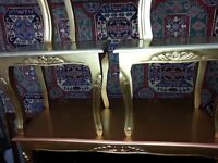 beautiful french coffee table and 3 large nest of table. gerayt condition.
