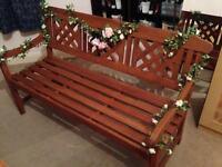 Robert Dyas 3 Seater Garden Fence Bench RRP £135