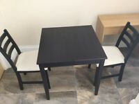 Dining table with 2 chairs set