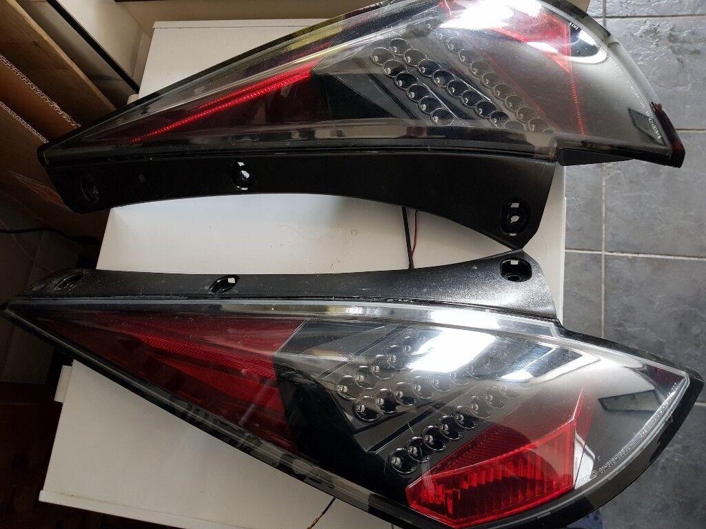 Nissan 350z Rear Z Shaped Led Tail Lights Dark Z33 02 08