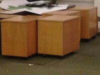 Desks & Chairs, Pedestals ( with wheels ) also for sale