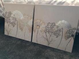 2x Next Metallic Canvases