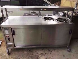 PLATE WARMER RESTAURANT KITCHEN CAFE TAKEAWAY CATERING HEATED FASTFOOD HOT DINER COMMERCIAL