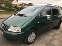 Volkswagen Sharan SE TDI 1900cc Turbo Diesel 6 speed manual 7 seat estate Y Reg 07/03/2001 Green