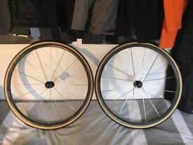 Bontrager xxx lite carbon tubular wheels