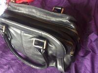 marc o'polo black leather hand bag