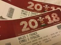 6 Nations Wales Vs France X4 Tickets