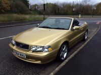 Volvo C70 2.4 T GT Convertible. 12 months MOT, Rare gold colour, LOW 56k mileage, Very good runner