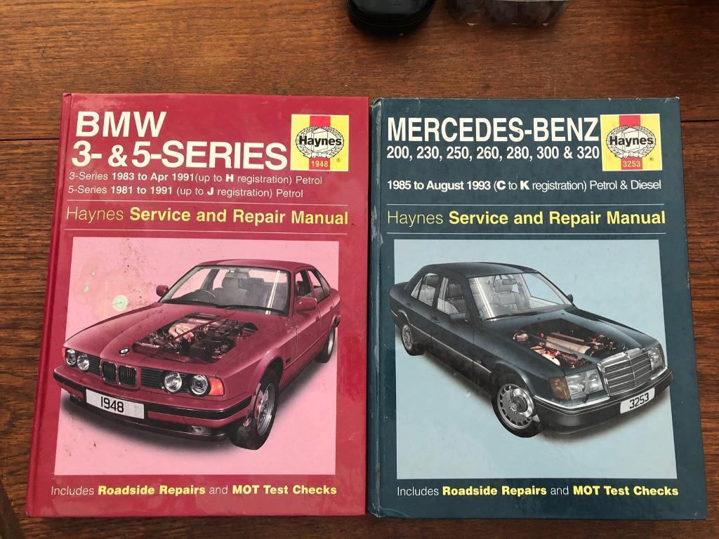 Haynes manuals - Mercedes W124 & BMW 5-series