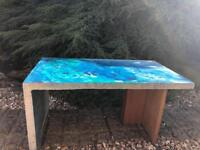 Acid washed Concrete Table. Indoor and Outdoor.