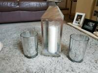 Vases and candle holder