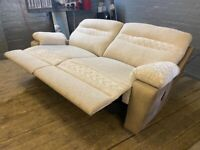 SCS FABRIC SOFA RECLINER IN EXCELLENT CONDITION £249 EX DISPLAY WITH LABEL FREE DELIVERY