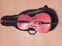 1/2 sized cello with case