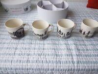 Royal Doulton Charlene Mullen 'London Calling' Mugs, Set of 4
