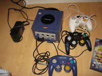 nintendo gamecube and 2 games
