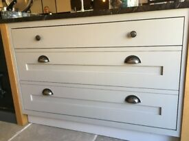 Drawer Unit (Right) - Soft Grey - SOLD AS SEEN
