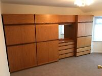 BEDROOM WARDROBES X 3 & CHEST OF DRAWERS WITH INBUILT MIRROR