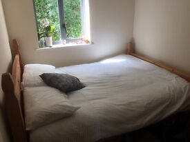 Mexican Pine Double Bed and Mattress