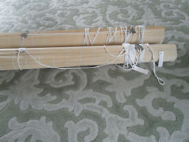 BAMBOO ROLLERS BLINDS NATURAL COLOUR NEW UN-USED