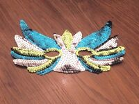 Multicoloured sequin carnival mask