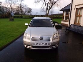 2004 TOYOTA AVENSIS 2.0 D-4DT3-X 5 DOOR WITH FULL YEARS MOT CHEAP CAR