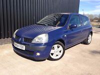 2004 Renault Clio 1.2 16v Dynamique 3dr 2 Keys , 12 Months MOT, 1 Months Warranty