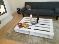 Pallet coffee table white