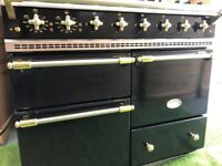 Stunning Lacanche Macon Range cooker Black and brass Oven INC VAT appliance