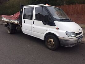 2004 transit crewcab lwb tipper october 2017 mot one previous owner from new