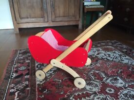 Wooden dolls' walker/pram
