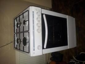 Gas Cooker white less than 12 months old grill in oven 60 quid