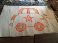 Cute car rug for kids room/playroom